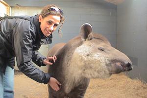 patti with tapir